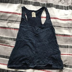 Blue hollister Lacey tank top